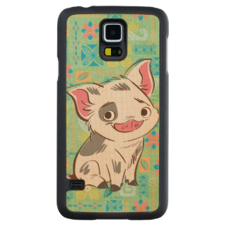 Moana   Pua - I'm No Bacon Carved Maple Galaxy S5 Case