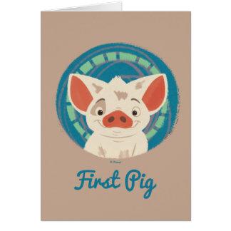 Moana | Pua The Pig Card