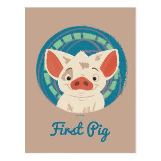 Moana | Pua The Pig Postcard