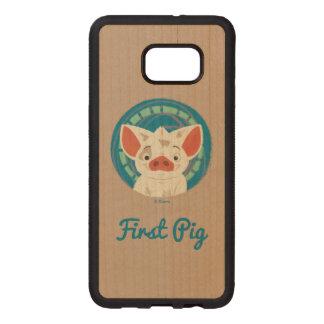 Moana | Pua The Pig Wood Samsung Galaxy S6 Edge Case