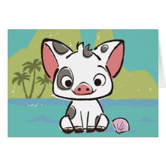 Moana   Pua The Pot Bellied Pig  Card