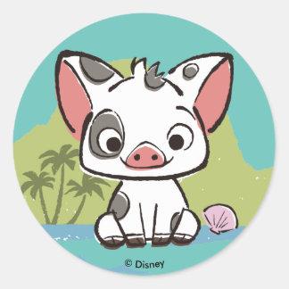 Moana   Pua The Pot Bellied Pig  Classic Round Sticker