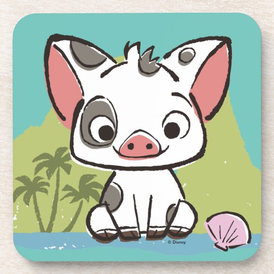 Moana Pua The Pot Bellied Pig Coaster Zazzle Ca