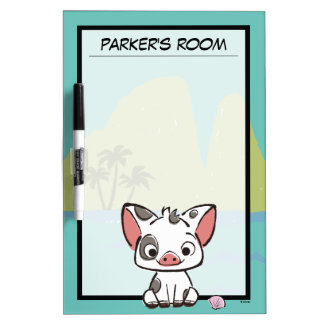 Moana | Pua The Pot Bellied Pig  Dry Erase Board