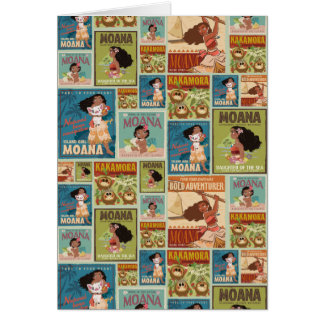Moana | Retro Poster Pattern Card