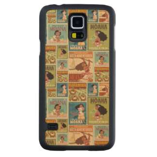 Moana | Retro Poster Pattern Carved Maple Galaxy S5 Case
