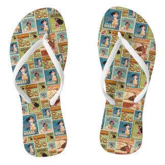 Moana | Retro Poster Pattern Flip Flops