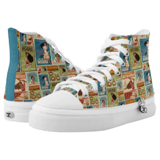 Moana | Retro Poster Pattern High Tops