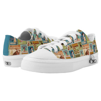 Moana | Retro Poster Pattern Low-Top Sneakers