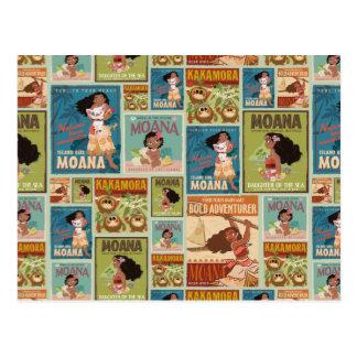 Moana | Retro Poster Pattern Postcard