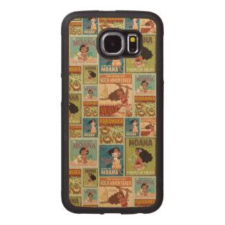 Moana | Retro Poster Pattern Wood Phone Case