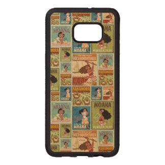 Moana   Retro Poster Pattern Wood Samsung Galaxy S6 Edge Case
