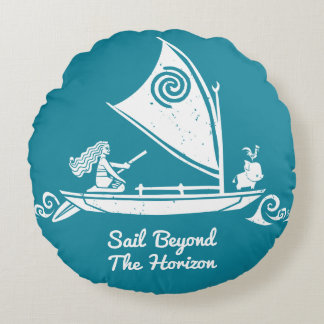 Moana | Sail Beyond The Horizon Round Pillow