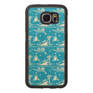 Moana   Sail By The Stars - Pattern Wood Phone Case