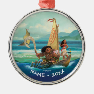 Moana | Set Your Own Course Silver-Colored Round Ornament