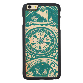 Moana   Star Reader Carved Maple iPhone 6 Plus Case