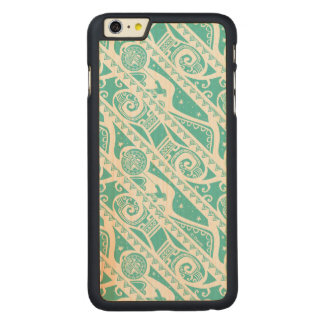Moana | Teal Tribal Pattern Carved® Maple iPhone 6 Plus Case