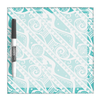 Moana | Teal Tribal Pattern Dry Erase Board
