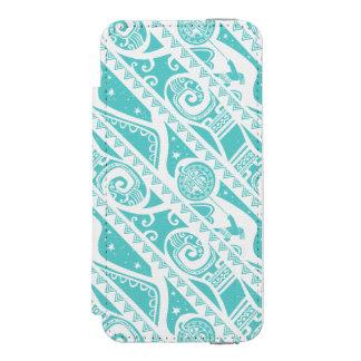Moana | Teal Tribal Pattern Incipio Watson™ iPhone 5 Wallet Case