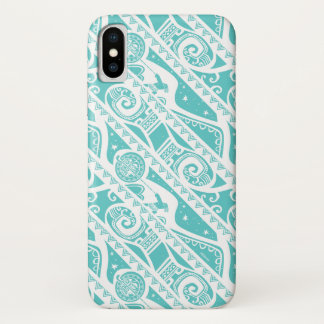 Moana | Teal Tribal Pattern iPhone X Case
