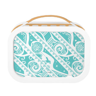 Moana | Teal Tribal Pattern Lunchboxes