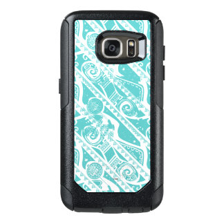 Moana | Teal Tribal Pattern OtterBox Samsung Galaxy S7 Case