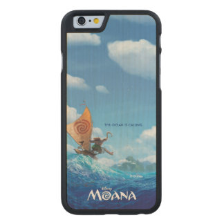 Moana | The Ocean Is Calling Carved® Maple iPhone 6 Case