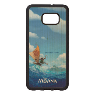 Moana | The Ocean Is Calling Wood Samsung Galaxy S6 Edge Case