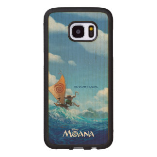 Moana | The Ocean Is Calling Wood Samsung Galaxy S7 Edge Case