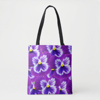 Moave_And_Purple_Pansies,_Full_Print_Shopping_Bag Tote Bag