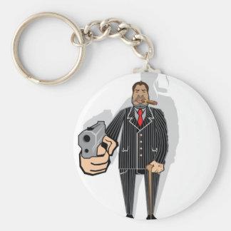 Mob Boss Basic Round Button Keychain