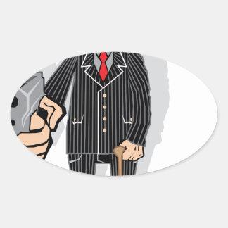 Mob Boss Oval Sticker