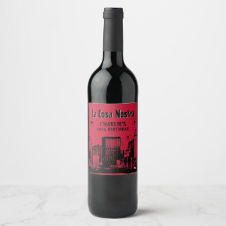 Mob Themed Party Wine Label