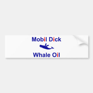 Mobil Dick Whale Oil Bumper Sticker