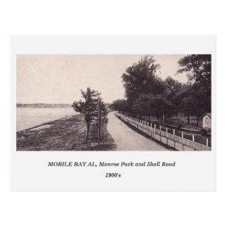 Mobile Bay AL, Monroe Park 1900s postcard