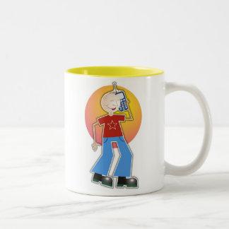 Mobile Boy Two-Tone Coffee Mug