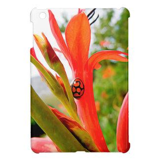 mobile devise red ladybug flower iPad mini cover