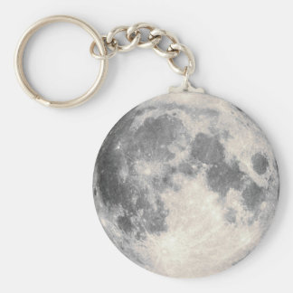 Mobile Full Moon Basic Round Button Keychain