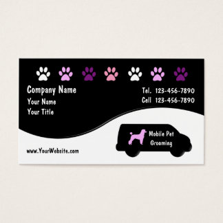 Mobile Grooming Business Cards