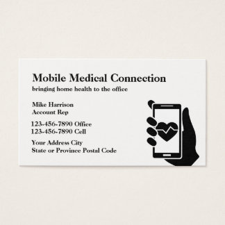 Mobile Healthcare Theme Business Card