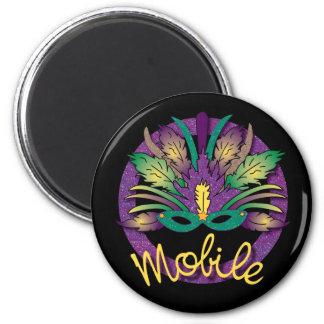 Mobile Mardi Gras Mask Magnet
