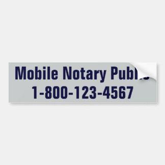 Mobile Notary Public Bumper Sticker