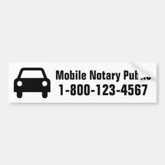 Mobile Notary Public Car Bumper Sticker