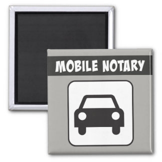 Mobile Notary Public Car Sign Magnet