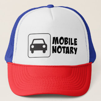 Mobile Notary Public Car Sign Trucker Hat