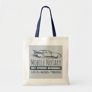 Mobile Notary Public Fast Car with Phone Number Tote Bag