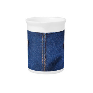 Mobile phone and euro money in blue jeans pitcher