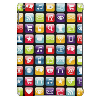 Mobile Phone App Icons Pattern iPad Air Cover