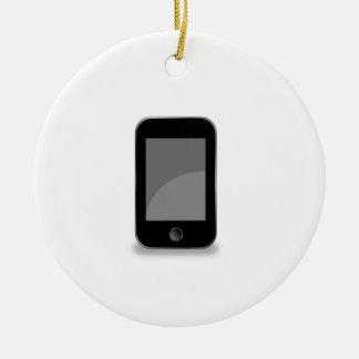 Mobile phone round ceramic ornament
