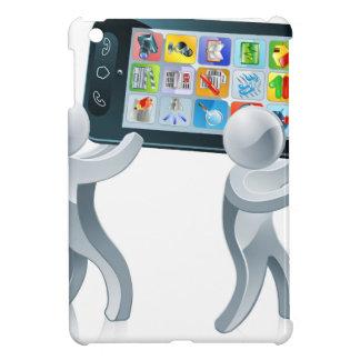 Mobile phone silver people iPad mini cover